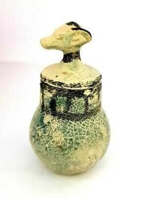 Rare Ancient Egyptian Khnum Figurine Vessel Antique Vase Stone Faience
