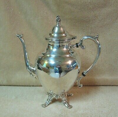 "Vtg Wm Rogers 10"" Silverplate Teapot"