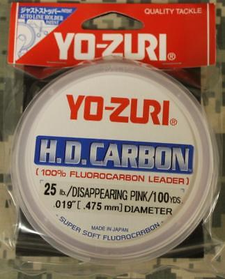 Pick test Yo-Zuri H.D Carbon Fluorocarbon Clear 30 yards Free Ship