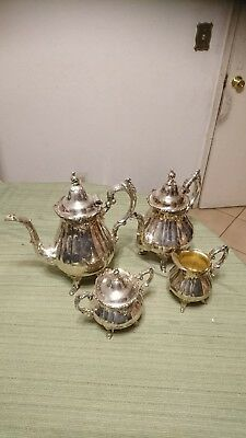Baroque By Wallace Silver-Plate 4 Pieces Coffee And Tea Set