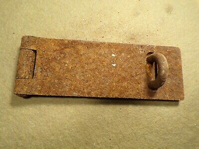 Vintage Antique Rustic Hinged Padlock Hasp Latch Lock Gate Door Chest