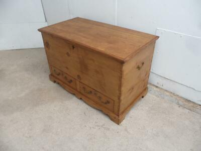 A Truly Superb Waxed Late Georgian Antique/Old Pine Mule Chest