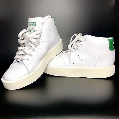 1710 ADIDAS ORIGINALS Stan Smith Bold Mid BY9663 Platform Women's Shoes