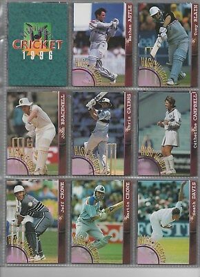 NEW ZEALAND High Velocity 1996 complete set in nine card pages