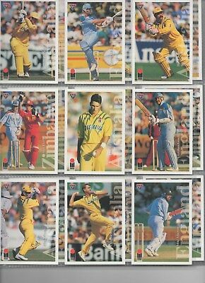 AUSTRALIA Futera 94-95 complete set in nine card pages includes England