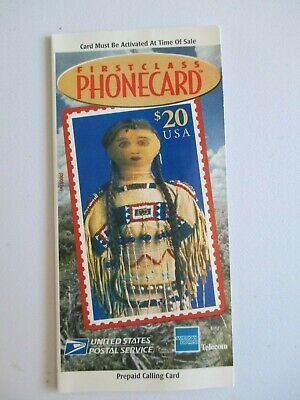 1997 USPS Collectible Phone Card PLAINS INDIAN DOLL $20 FV #'d Expired Unused