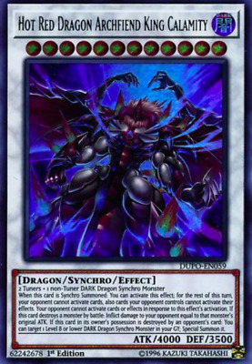 1X NM Hot Red Dragon Archfiend King Calamity - DUPO-EN059 - Ultra EURO PRINT