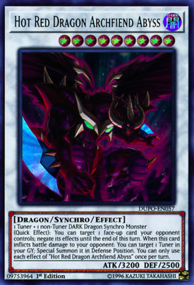 1X NM Hot Red Dragon Archfiend Abyss - DUPO-EN057 - Ultra- yugioh EURO PRINT