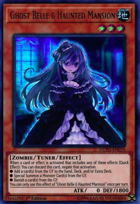 1X NM Ghost Belle & Haunted Mansion - DUPO-EN078 - Ultra Rare- yugioh EURO PRINT