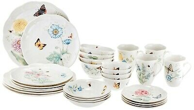 Lenox Butterfly Meadow Classic Dinnerware Set 28 Piece Service For 4 NEW