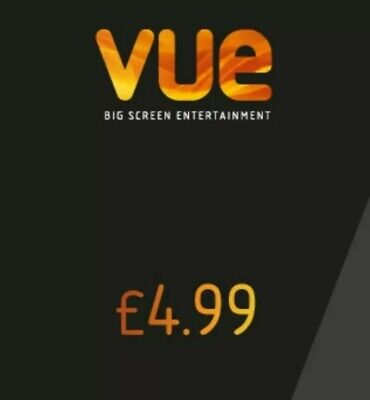x2 Vue Cinema Tickets Discount Codes *£4.99 each*  PURCHASE ONLINE @ MyVue.com.