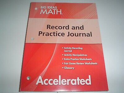 BIG IDEAS MATH Advanced 2 Record & Practice Journal Red