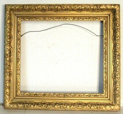 ANTIQUE MUSEUM QUALITY BAROQUE GOLD LEAF FRAME FOR PAINTING 20 X18 inch