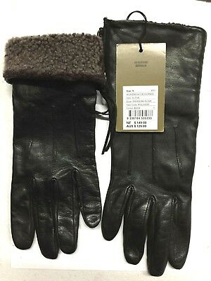 Country Road Shearling Gloves  - black - Size s - fur top