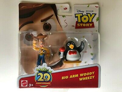 Disney/PIXAR Toy Story 20th ANNIVERSARY BIG ARM WOODY & WHEEZY 2 Figures Toy Kid