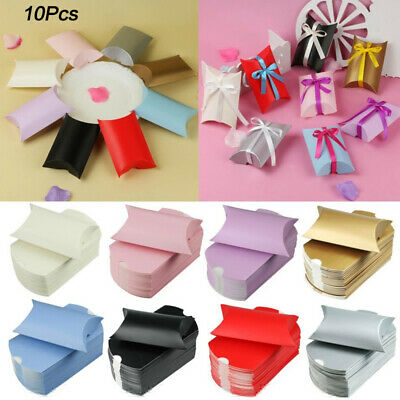 """Simple Favor Gift Paper Candy Boxes Kraft Baby Shower 3.5""""x2.5""""x0.9"""" 10PCS New"""