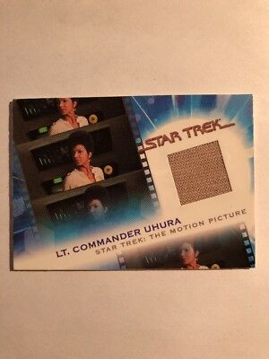 Complete Star Trek Movies Costume Card Mc6 Uhura 035