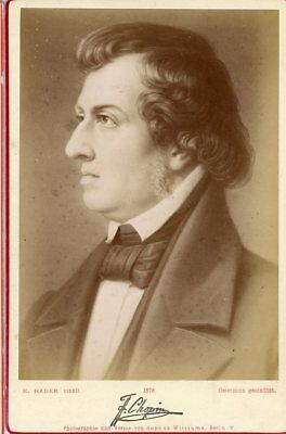 CHOPIN  (1810-1849) - Sop . WILLIAMS - Carte CABINET - albumen print.