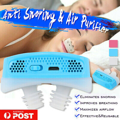 Micro CPAP Anti Snoring Electronic Device For Sleep Apnea Stop Snore Aid Stoppe