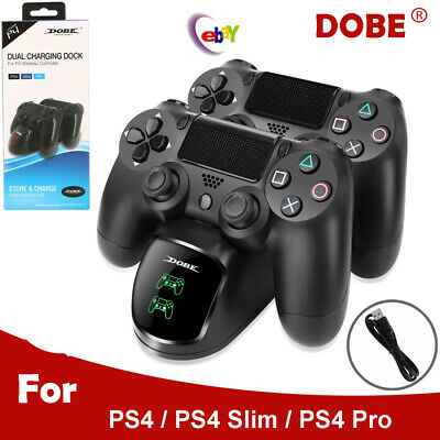 PS4 Controller Dual Charger USB Charging Station Dock for PS4/PS4 Slim/PS4 Pro