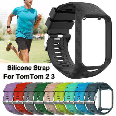 Silicone Sport Watch Band Strap for TomTom Runner 2 3 Spark 3 Adventurer GPS