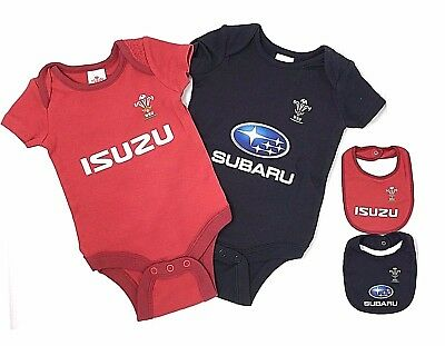 Wales Rfu Rugby Babies Body Pram Suit Short Sleeve Baby Grow Vest World Cup 19