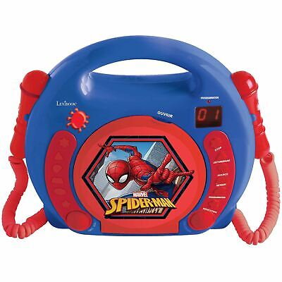 Spiderman Cd Player With Microphones With Handle Lexibook Kids