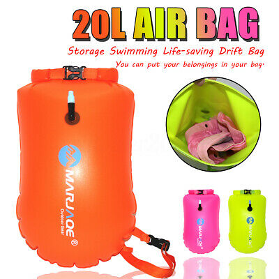 20L Safety Swim Buoy Aid Upset Inflated Air Bag For Swimming Pool Open Water Sea