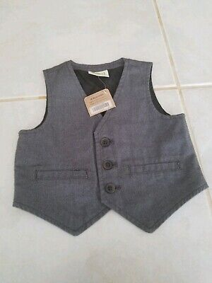 Crazy 8 Boys' Toddler Dressy Button Down Vest, Gray, 18-24 Months