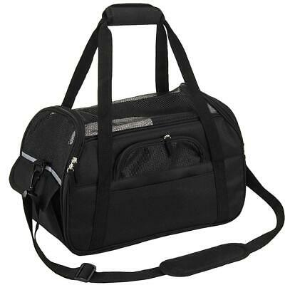 Kaka mall Sac de Transport pour Chat, à Main L 48*25.5*33CM, Noir
