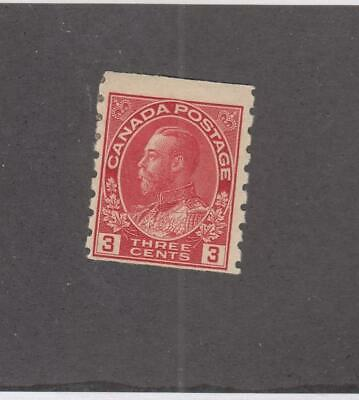 CANADA (MK623)  # 130  F-MH  3cts  KING GEORGE V ADMIRAL COIL/CARM CAT VAL $50