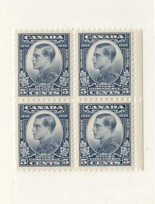 CANADA (MK39) # 193 VF-MNH  5cts  PRINCE OF WALES/BLOCK OF 4/DULL BLUE CAT $80