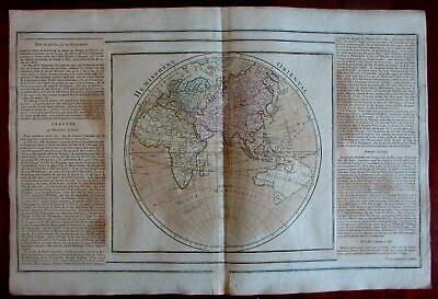 Eastern Hemisphere Australia attached to Van Diemen Africa Mts Moon 1766 map