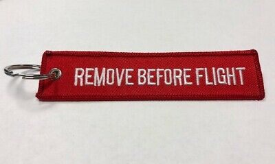 Remove Before Flight Key Chain Embroidered Keychain Tag Luggage Bags Top Gun