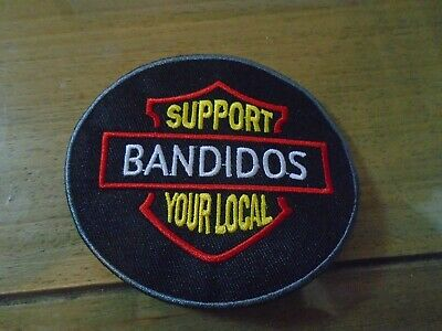 Blowout Sale Support your Local -Bandidos Round Patch 3.5 inch