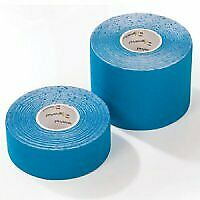 PhysioRoom Kinesiology Sports Compression Tape Blue 2.5cm x 5m Comfort Support