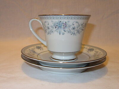 Noritake Blue Hill 2482 Cup and 2 Saucers