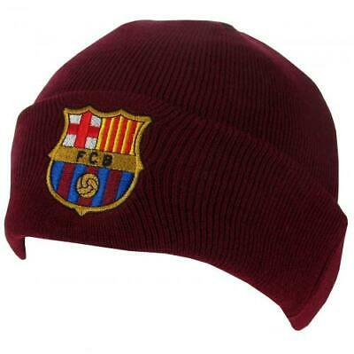 FC Barcelona Official Football Gift Knitted Bronx BEANIE HAT FCB Crested