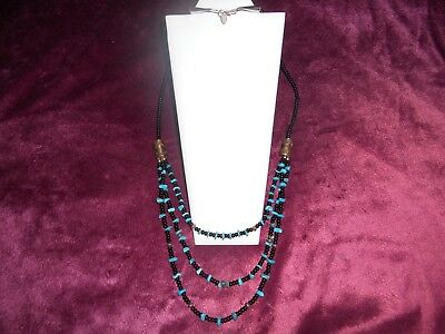 f22511ad1dbd6 HSN CHACO CANYON Southwest Turquoise Sterling Silver Necklace 18 ...