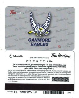 Tim Hortons 2015 AJHL Canmore Eagles Gift Card FD48174