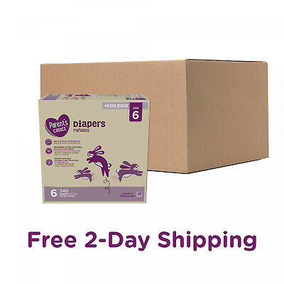 Parents Choice Diapers, Size 6, 240 Diapers (Mega Box)