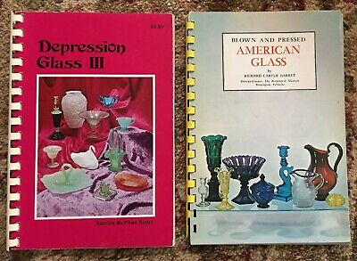 Vintage Depression Era And American Glassware Book Lot Identification Color Pix