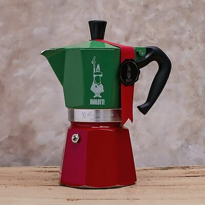 Bialetti Moka Express Tricolore, 3 or 6 cup