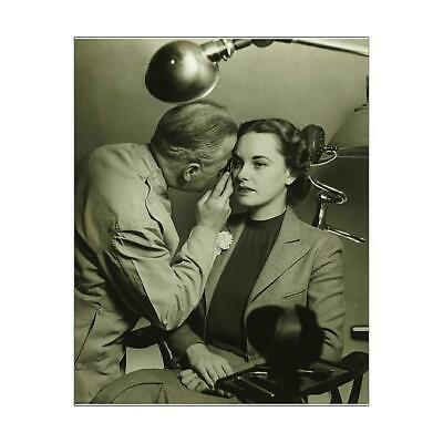 "12305463 10""x8"" (25x20cm) Print Optician examining womans eye, (BaW)"