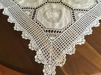 Large crochet  Tablecloth or Bedspread Vintage