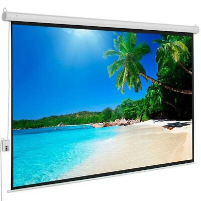 """100"""" 4:3 Electric Motorized Projector Screen HD Home Theater Remote Control US"""
