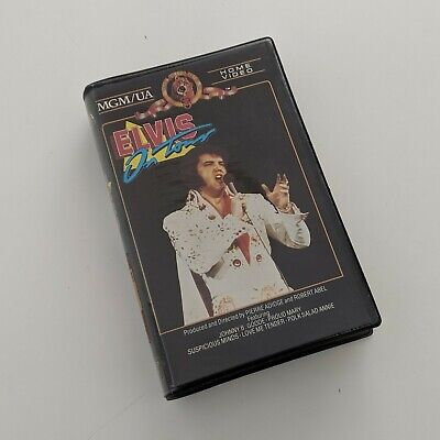Elvis On Tour - Rare BETAMAX Beta Tape Clam shell Suit Collectors VGC