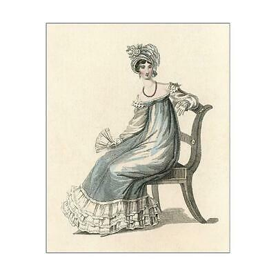"14290269 10""x8"" (25x20cm) Print of Evening Dress 1818"