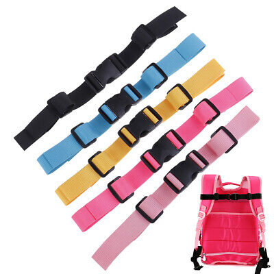Adjustable Bag Backpack Webbing Sternum Chest Harness Buckle Clip Nylon Strap CP