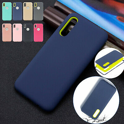 Dual Layer Shockproof Case Combo Rubber Rugged Cover For Samsung A10 A40 A50 A70